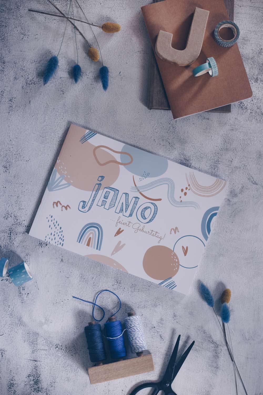 DIY Geburtstagtagebuch selbermachen - Geschenkidee zur Geburt oder zum ersten Geburtstag